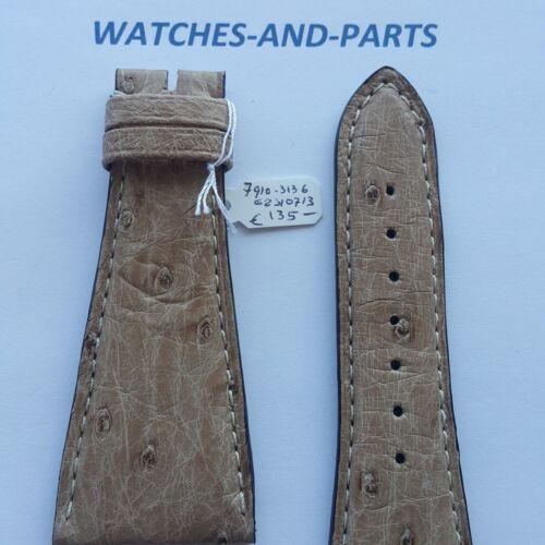 Beige Ostrich Leather Strap 30mm 30/18 NEW GENUINE ORIGINAL Kaufmann