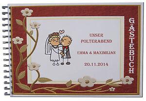 Gaestebuch-Polterabend-Hochzeit-Geschenk-Ringe-Brautpaar-Trauung-Strichmaennchen