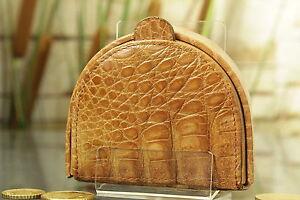 Kleidung & Accessoires Geldbörse Geldbeutel Kralle Kroko Leder Neu Purse Crocodile New ü1209 Exquisite Handwerkskunst;