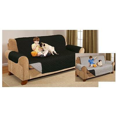 REVERSIBLE QUILTED SOFA CHAIR SETTEE PET FURNITURE PROTECTOR SLIP COVER THROW