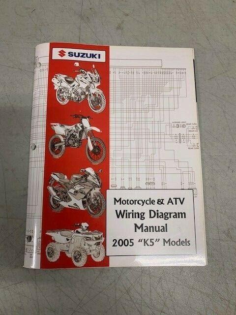 2005 Suzuki Atv Motorcycle K5 Models Factory Shop Service