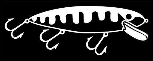 """FISH sticker vinyl decal   8/"""" x 3.5/""""  Fishing lure Decal Many colors"""