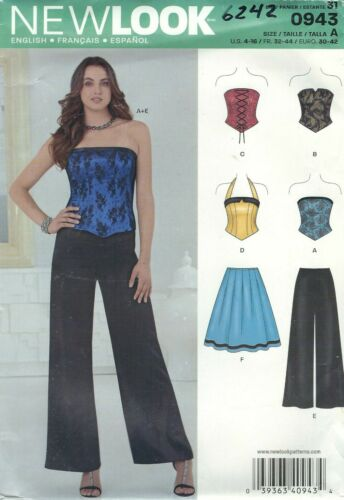Skirt and Pants 4 to 16      Sewing Pattern New Look 6242 Misses/' Corset Tops
