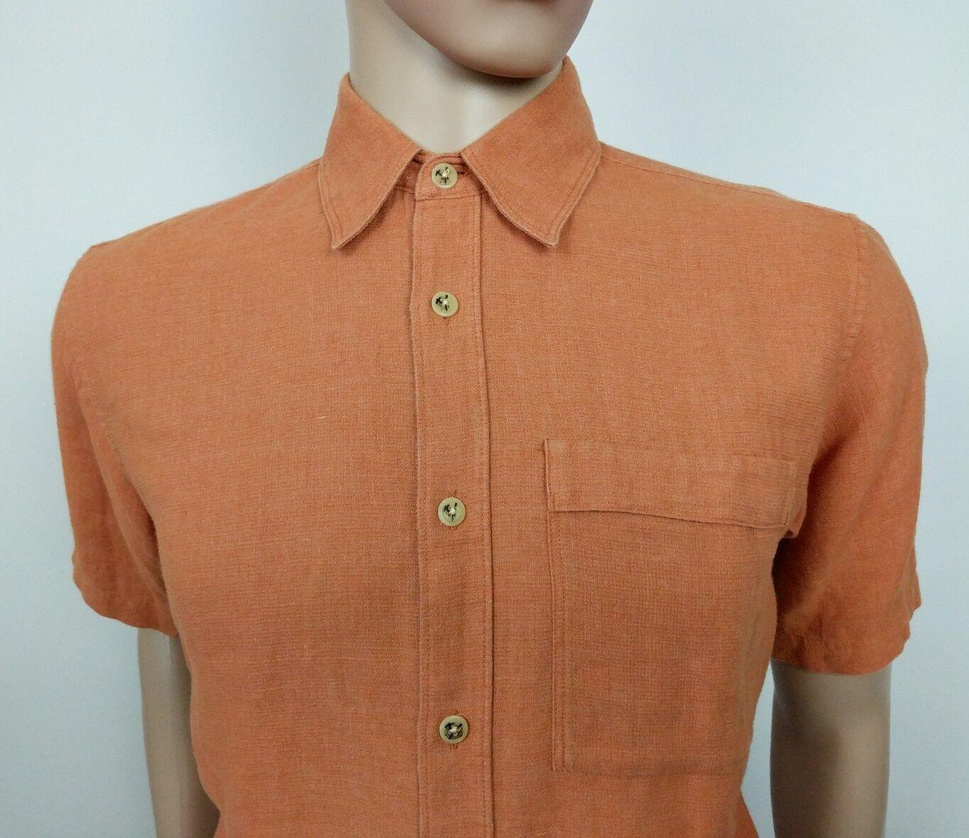 Columbia Mens Hemp Shirt orange Size S 15.5 Camping Outdoor New RRP