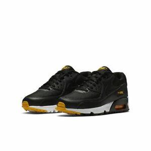 Détails sur Junior Nike Air Max 90 Mesh GS Baskets Noir Blanc Or 833418 026 UK 6 EU 39 afficher le titre d'origine