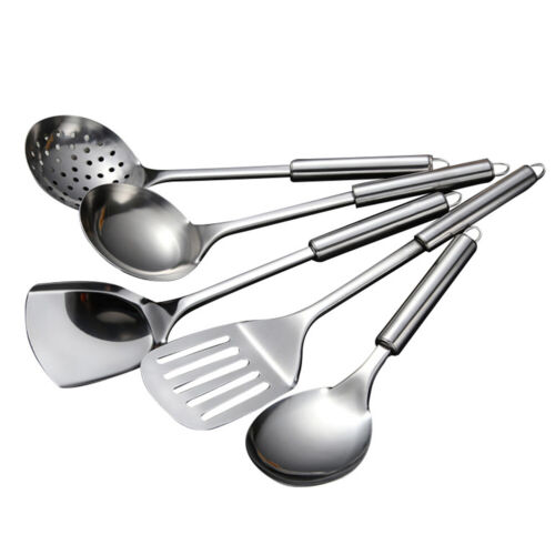 5-Piece Stainless Steel Kitchen Utensil Set Cooking Serving Tools Spatula Spoon