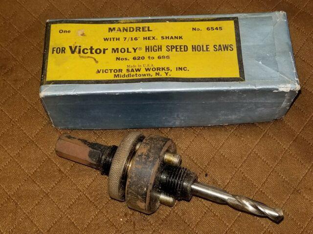 "MANDREL FOR HOLE SAW 7//16/"" BLU-MOL 5545 Hex quick change 2Pcs"