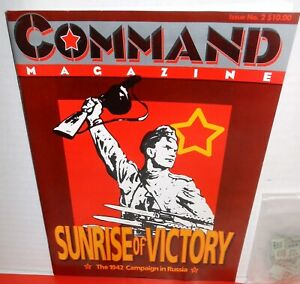 BOARD-WAR-GAMES-Mag-Command-2-Game-Sunrise-of-Victory-Russia-1942-op-1990