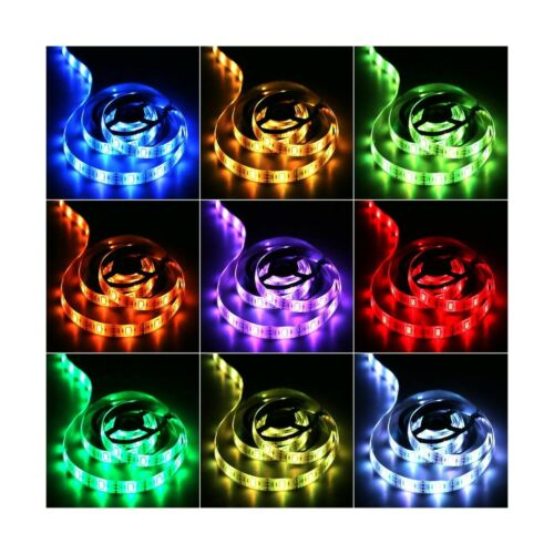 ACONDE Battery Powered LED Strip Lights Multi-Color Ch... RF Remote Controlled