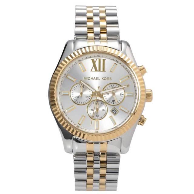 Michael Kors MK8344 Lexington Two-Tone  Men's Chrono Watch - 2 Year Warranty