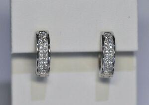 Echt-925-Sterling-Silber-Ohrringe-Creolen-Zirkonia-Hochzeit-Nr-340