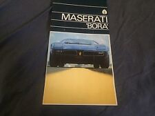 1973 Maserati Bora Mid Engine  Color Brochure Prospekt