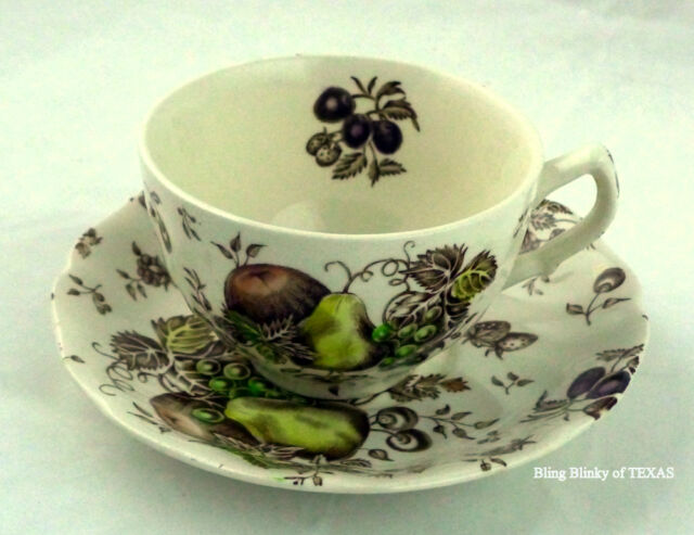Fruit Autumn Delight Johnson Brothers Cup Saucer Pattern White