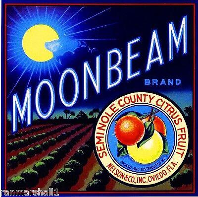 Oviedo Florida Moonbeam #1 Orange Citrus Fruit Crate Label Art Print