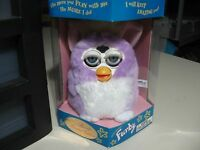 6 Electronic Purple Furby Doll, By Tiger Electronics 1998, Brand & Sealed