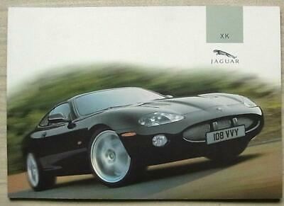 Jaguar Xk Xk8 & Xkr Car Sales Brochure 2004 #jlm/10/02/03/04 Coupe & Convertible Fancy Colors
