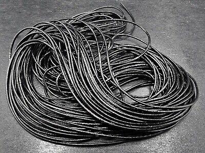 Lederband ab 0,30€//m Lederschnur Länge: wählbar Rost Rund 1 mm