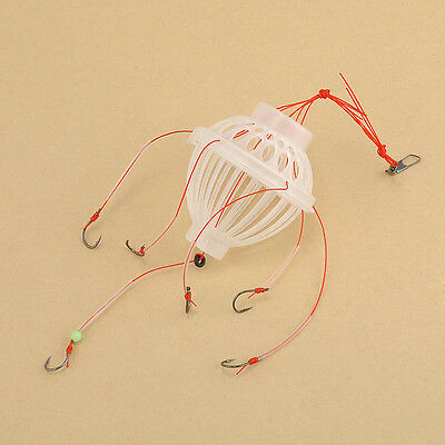 Simple With 6 Strong Fishing Hooks Fishing Tackle Sea Fishing Box Hook Monsters