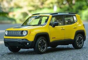 Welly-1-24-Jeep-Renegade-Diecast-Model-Sports-Racing-Car-Toy-Yellow-NEW-IN-BOX