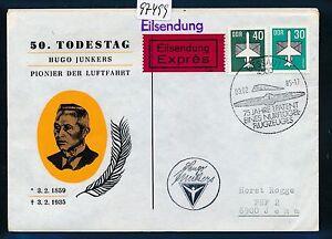 97499) Rda Coursier Sou 50. Anniversaire De La Mort Junkers Sst Dessau 3.2.85, Mif-afficher Le Titre D'origine