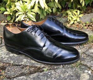 Detalles de Zapatos De Cuero para Hombre Cerruti 1881 Paris Con Cordones Negro EU45 Reino Unido 11 Italia hecho trabajo ver título original