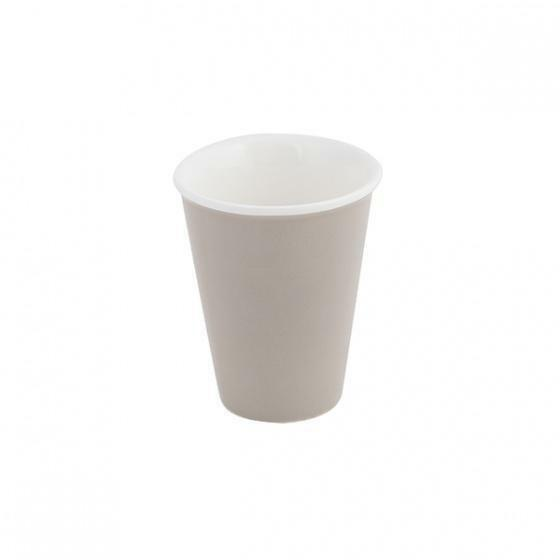 6x Latte Cup Stone Grey 200mL Bevande Tapered Coffee Cups Hot Chocolate