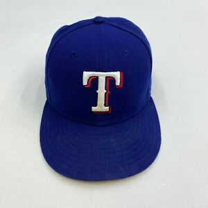 New-Era-59Fifty-Texas-Rangers-Hat-Men-039-s-7-1-4-57-7cm-Blue-Fitted-MLB-Cap
