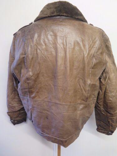 Fourrure A2 A2 Lining Doublure Bomber 46 en With Cuir en Jacket avec Fausse Leather Blouson Fur 46 Vintage Flight Bomber Faux Vintage wSOxCzIWwq