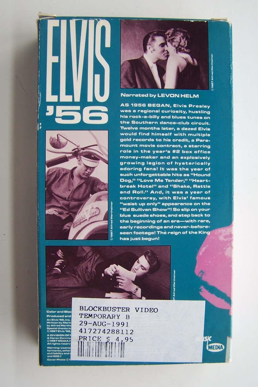 Elvis 56 VHS Video Tape 1987