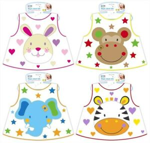 Wipe-Clean-Jungle-Pals-Baby-Bib-Feeding-Mealtime-Toddler-6months-First-Steps