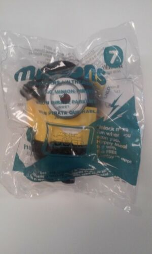 NEW 2015 McDonald's Minions #7 Talking Pirate Minion Sealed Toy Free Ship