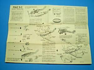 Aurora-1957-PFALZ-D-3-Original-Model-Instruction-sheet-L-K