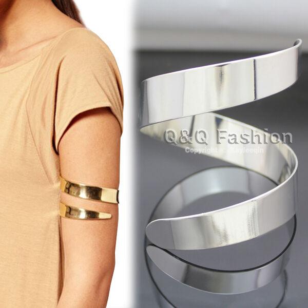 Egypt Cleopatra Swirl Snake Upper Arm Cuff Armlet Armband Bangle Bracelet Top