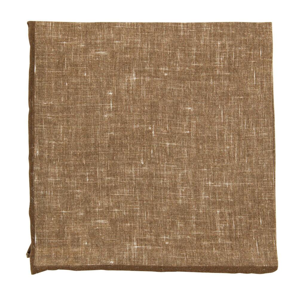 New Fiori Di Lusso Brown Melange Pocket Square - x 12