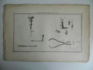 Grabado Hérisset Máquinas Invenciones Navaja Para Variaciones Pluma Galón Folio