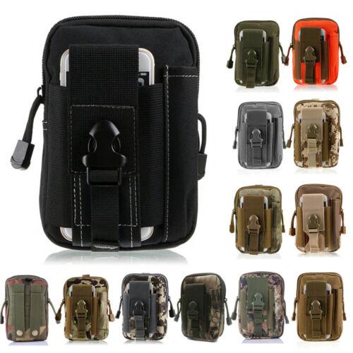 Tactical Outdoor Waist Belt Bag Military Holster Molle Zip Hip Phone Wallet Case