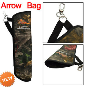 1X Archery Arrows Holder Arrow Quiver Bag Outdoor Hunting Easy Carry Nylon Camo