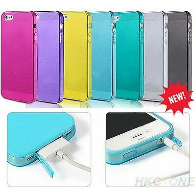 NEW Stylish Shockproof Soft Silicone TPU Matte Case Cover for Apple iPhone 4 4S