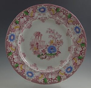 XIX-CENTURY-FRANCIS-MORLEY-POLYCHROME-CLEOPATRA-DINNER-PLATE-IRONSTONE-COLOR