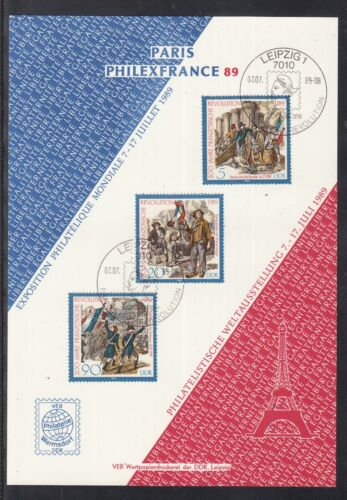 C 24 ) East Germany Fantastic Sheet - Philatelic memorial sheet of the GDR 1989