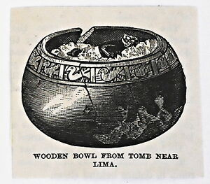 small-1883-magazine-engraving-WOODEN-BOWL-FROM-TOMB-NEAR-LIMA-Peru