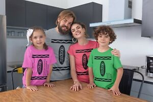 Crayon-T-Shirt-Costume-pack-of-crayons-group-School-Work-Family-easy-Halloween