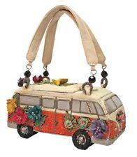 Mary Frances Handbag Get on The Bus VW Van Vintage Auto Car Beaded Jeweled Purse