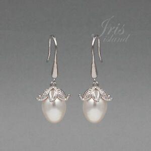 White-Pearl-Freshwater-CZ-925-Sterling-Silver-Hook-Drop-Dangle-Earrings-08021