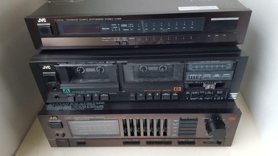 Stereoanlæg , JVC, A-X400 - KD-W110 - T-X200L