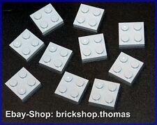 Lego 10 x Platten grau 2 x 2 - 3022 - Plate Light Bluish Gray - NEU / NEW