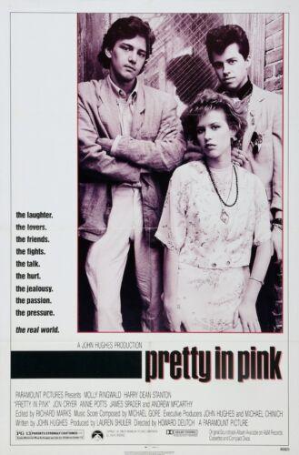 """Pretty in Pink Movie Silk Poster 11/""""x17/"""" 24/""""x36/"""" Molly Ringwald McCarthy"""