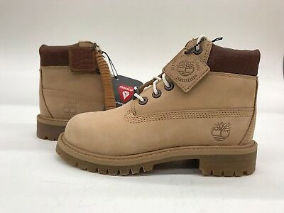 Timberland Earthkeepers EK 6 Inch Youth Kids Lace Up Brown Boots 80704 Z54B