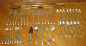 Gorham Camellia Sterling Silver Flatware Pat 1941 - 8 Settings+ 51 Pieces