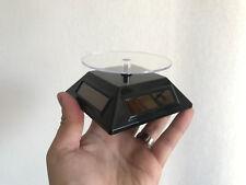Presentoir tournant noir solaire 10 x 10 cm pour fossiles, minéraux ou autres!!